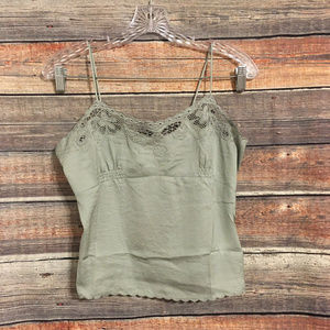 Honey Punch green embroidered camisole